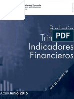 Boletín Trimestral de Indicadores Financieros 2015-2016
