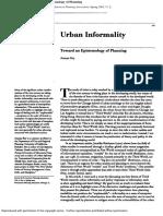Urban Informality - Toward an Epistemology of Planning (1).pdf