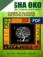 Orisha Oko Orisha of Fertility Progres and Evolution