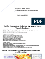 Proposed DOTC Rail Transportation Vision and Policy May 2016