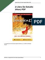 1933163682 Iniquidad Libro Estudio Spanish Edition