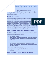 Social Class System in Britain