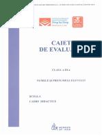 Caiet de Evaluare Step by Step - Clasa a III-A (Varianta Noua)