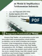Pembentukan modal dan Implikasinya Terhadap Perekonomian Indonesia