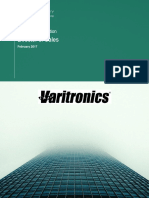 Varitronics - Director of Sales Position Specification