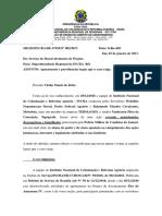 Memo do PFA Wehélbio Nepomuceno Sinval à SR-17/RO - Agressão policial em Candeias do Jamari/RO