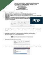 Análisis de Varianzas y Correlación Lineal en Prácticas Experimentales Mediante El Uso de Excel