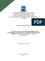 ANÁLISE DA GESTÃO DOS RECURSOS HÍDRICOS NOS MUNICÍPIOS DA UNIDADE DE PLANEJAMENTO DO BAIXO RIO SERGIPE - SE