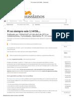 Pi No Siempre Vale 3,14159… _ Gaussianos