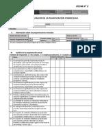 Ficha 2 Analisis de La Planificación Curricular VF