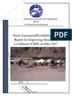ARAA Ghor Livelihood Need Assessment Report 2017