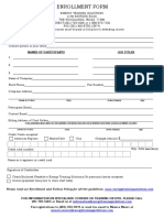 Enrollment Form 3