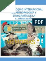 Memorias del 1er. Coloquio Internacional de Antropología y Etnografía de la alimentación en Puebla