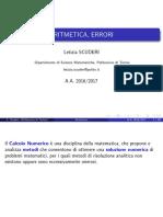 01.Aritmetica, errori