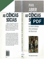 277460294 Para Abrir as Ciencias Sociais