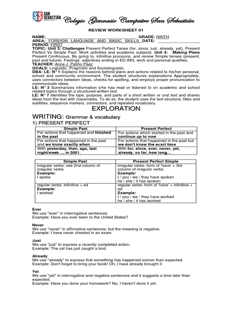 Workbooks Regular And Irregular Verbs Worksheets Free Printable