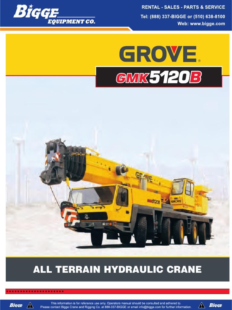 grove gmk5120b 120t document engines suspension vehicle rh scribd com Hyd Cranes 800 Ton Crane