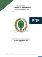 Cover - Dokumen Renja Dprd Prov Kaltim 2017-2018