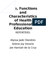 Role, Functions and Characteristics of Health Professional.rtf