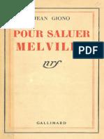 Jean Giono Pour Saluer Melville
