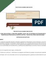 Proyecto de Acuerdo 285 de 2010