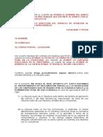 Carta Real Decreto Clausulas Suelo