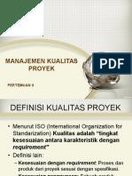 PERTEMUAN 9-Manajemen Kualitas Proyek IT