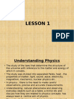 PHYSICS F4 C1LESSON 1