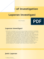 Report of Investigation