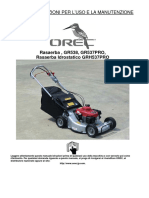 GR538 537PRO GRH537PRO Manual Italian