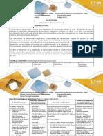 Guía de Actividades y Rúbrica de Evaluación - Fase II - Trabajo Colaborativo 1