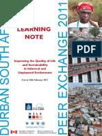 Durban Peer Exchange 2011 Learning Note