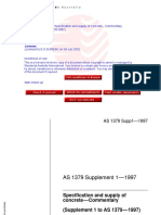 As 1379 Supp 1-1997 Specification and Supply of Concrete Sup