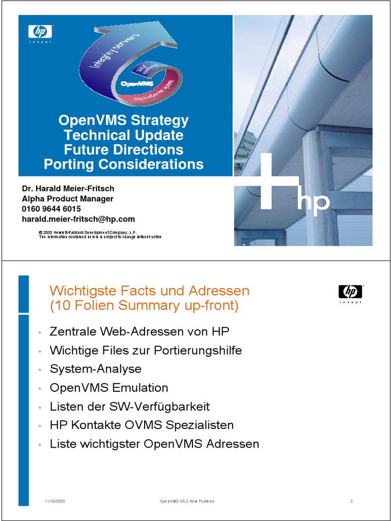Openvms Technical Update | Computer Cluster | Areas Of