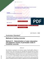 AS 1012.21-1999 Methods of testing concrete -  permeable voi.pdf