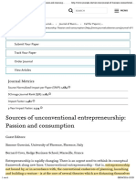 Sources of Unconventional Entrepreneurship Passion and Consumption - Journal of Business Research - Elsevier