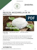 30-Minute Mozzarella Recipe