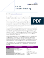 Comparison of Communications and Surveillance Tracking Systems