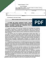43967566 Teste 8º Lingua Portuguesa Noticia e Publicidade