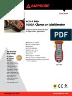 Amprobe ACD6PRO Sheet