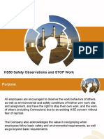HS50 Safety Observations and STOP Work