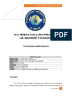 Plan Remedial Enseñanza Básica
