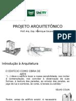 1- Introdução à Arquitetura