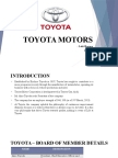 Toyota Motor Supply Chain