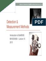 10 BIO4600 Detection Measurement Methods
