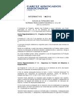 Boletim Informativo 14_2016 - Alteração Da NR9 NR12 e NR35