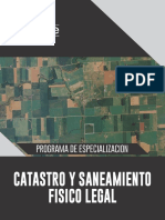 Programa Catastro y Saneamiento Fisico Legal