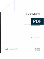 Frank Martin - Ballade (Corno Di Bassetto Score)