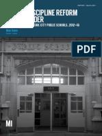 School Discipline Reform and Disorder