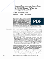 Integrating Teacher Learning the Schoolbased Followup Development Activity